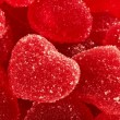 Red fruit candy in the form of the heart — Stock Photo