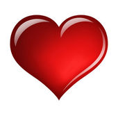 Red heart isolated on white — 图库照片