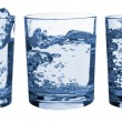 Set of glasses water splash — Foto Stock