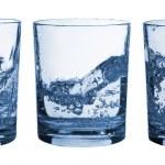 set di bicchieri acqua splash — Foto Stock