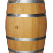Wooden barrel on white — Stock Photo #4680445
