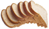 Whole Wheat Bread Slices — Foto Stock