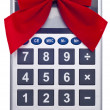Calculating the Cost of the Holidays — Stock Photo #4015930