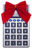 Calculating the Cost of the Holidays — Stock Photo