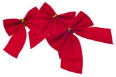 Festive Red Holiday Bows — Stock Photo