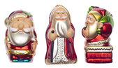 Vintage Santa Holiday Ornaments — Stock Photo