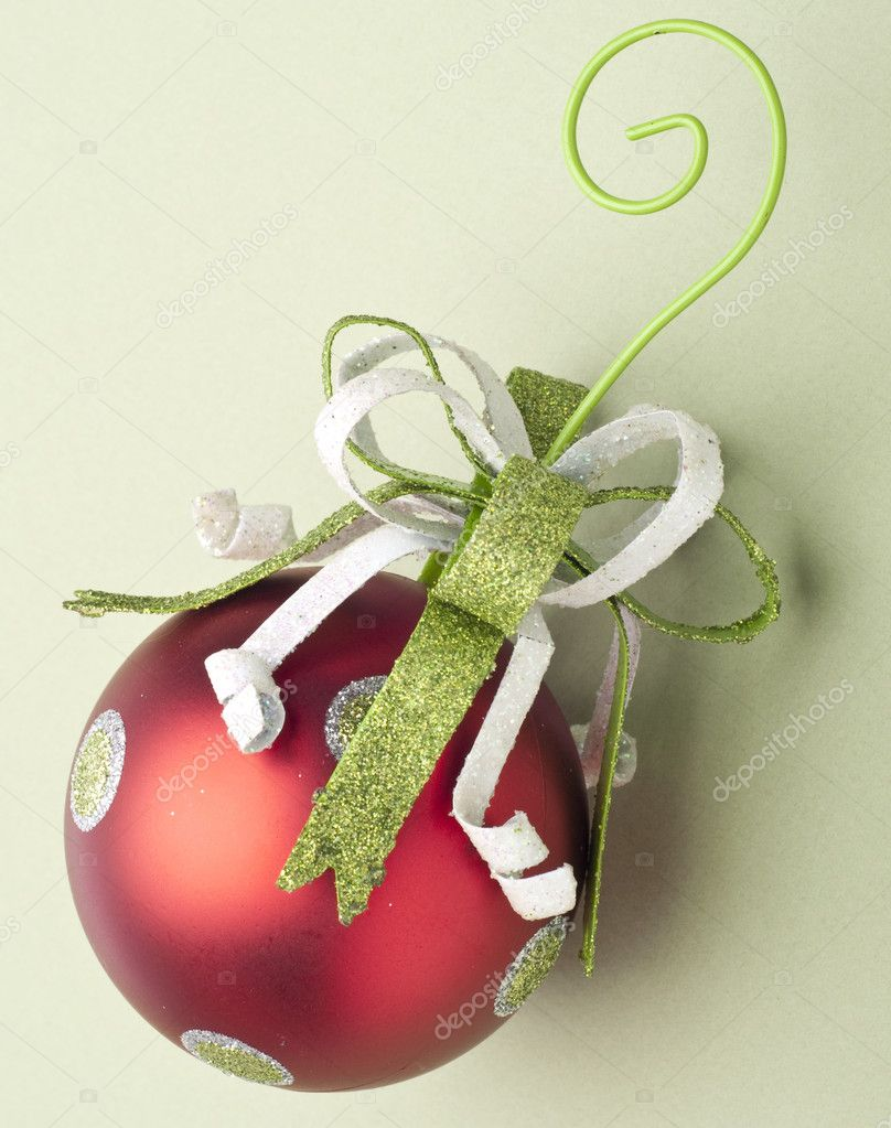 Festive Red Bauble Holiday Ornament — Stock Photo #4016081