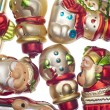Holiday Retro Ornament Texture — Stock Photo