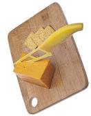Kaşar peynir ve kraker — Stok fotoğraf