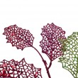 Holiday Leaf Border — Stockfoto