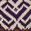 Close Up of Brown Knit Pattern — Zdjęcie stockowe