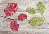 Whimsical Leaf Holiday Background — Stock Photo