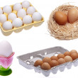 Stock Photo: Variety of Eggs
