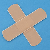 Band Aid on a Vibrant Background — Stock Photo