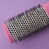 Close Up of Round Pink Brush on a Vibrant Background — Stock Photo