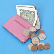 Wallet Spilling Out American Cash — Stockfoto