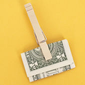 American Currency in a Clothespin — Stock Photo