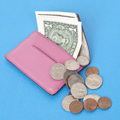 Wallet Spilling Out American Cash — Stock Photo