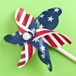 American Flag Patriotic Pinwheel — Stock Photo