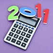 Calculating 2011 — Stock Photo