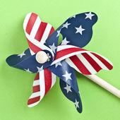 American Flag Patriotic Pinwheel — Stock Photo