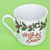 Milk for Santa — Stock Photo