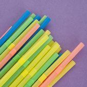 Fun Straws on a Vibrant Background — Stock Photo
