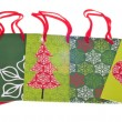 Set of Holiday Gift Bags — Stock Photo