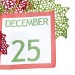 Holiday Background with Christmas Calendar Page — Stock Photo