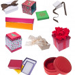 Collection of Holiday Gift Boxes — Stock Photo #4278403