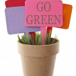 Go Green — Stock Photo