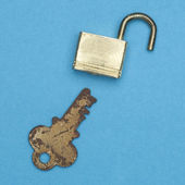 замок и ключ — Стоковое фото