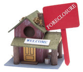 Farm Home with Red Foreclosure Sign — Stock Photo