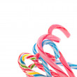 Variety of Candy Cane Candies — Stock Photo