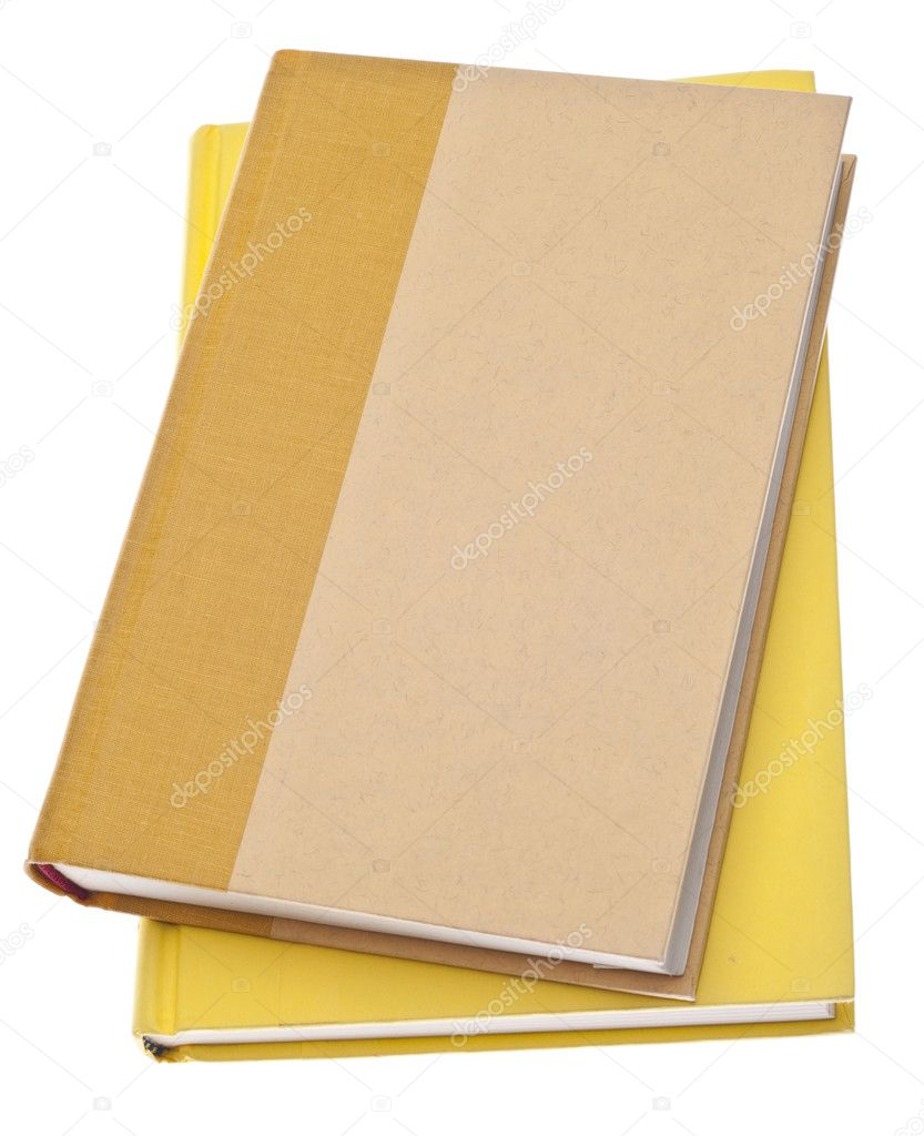 Heap of Yellow Hardcover Books Isolated on White with a Clipping Path. — Stock Photo #4315629
