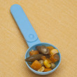 Stock Photo: Spoonful of Vibrant Mixed Vegetables