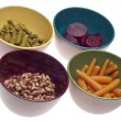 Variety of Canned Vegetables in Bowls — Stock Photo