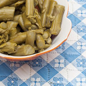 Close Up of Bowl of Canned Asparagus — Stock Photo