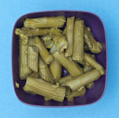 Bowl of Canned Asparagus — Stock Photo