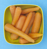 Bowl of Canned Carrots — Stock Photo