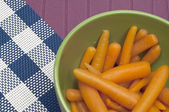 Close Up of Bowl of Canned Carrots — Stock Photo