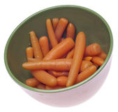 Bowl of Canned Carrots — 图库照片