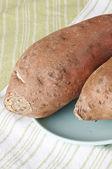Raw Sweet Potatoes — Stock Photo
