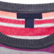Close Up of Striped Sweater with Blank Tag - Zdjcie stockowe