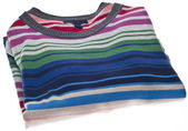 Folded Colorful Striped Sweater — Stock Photo