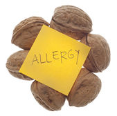 Nut Allergy Warning — Stock Photo