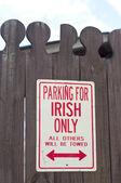 Parking dla irlandii tylko — Zdjęcie stockowe