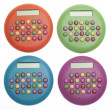 Royalty-Free Stock Photo: Vibrant Colored Calculators