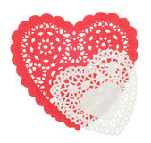 Decorative Red and White Hearts — Stock Photo