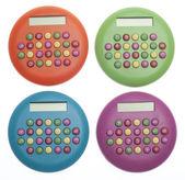 Vibrant Colored Calculators — Stock Photo